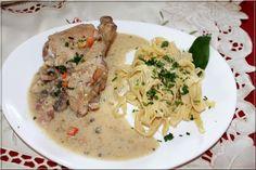LA TABLE LORRAINE D'AMELIE: Blanquette de poulet fermier - pâtes fraîches à l'ail des ours