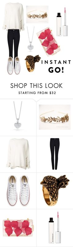 """Shooting!"" by nadin-yamile ❤ liked on Polyvore featuring beauty, Roberto Coin, URBAN ZEN, Armani Jeans, Converse, Gucci, WithChic and Givenchy"