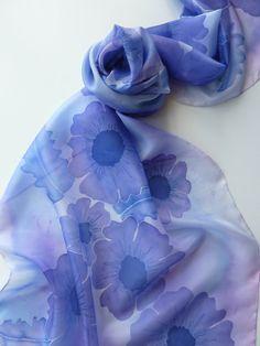 Hand painted silk scarf. Handpainted silk scarf. by StIvesSilkArt, £42.00