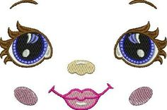 """Machine embroidery design """"Doll"""" 
