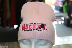 Hockey Perfected by Women! Hat says it all! Women Hat, Baby Items, Hockey, Coupons, Baseball Hats, Beanie, Fashion Outfits, Stuff To Buy, Ebay