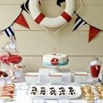 Birthday ahoy | Nautical party decor