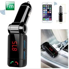 Great Price $7.54, Buy KWOKKER Car MP3 Audio Player Bluetooth FM Transmitter Wireless FM Modulator Car Kit HandsFree USB Charger for iPhone hot selling