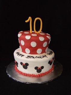Without the Topsy Turvy would be cute...... Minnie Mouse Whimsy - My first attempt at a topsy turvey cake made for my daughter's 10th birthday