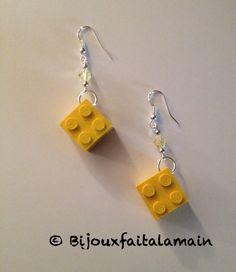 LEGO jewellery bijouxfaitalamain13.webnode.fr Lego Jewelry, Cute Jewelry, Piercing, Colour Yellow, Agent Carter, Fishing Tackle, Legos, Nespresso, Headbands