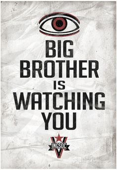 Big Brother is Watching You 1984 INGSOC Political Poster Posters ...