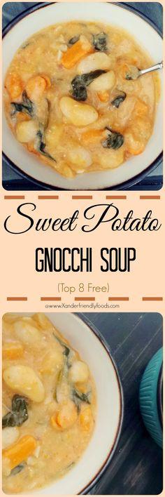 Sweet Potato Gnocchi Soup, homemade, vegan & gluten free. Rich & creamy, comforting & so delicious. Kids love it too!