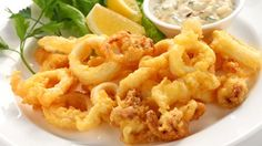 Fried Calamari Antipasto, an Authentic Italian Recipe from our kitchen to yours. An enticing antipasto with light and crispy fried calamari you won't be able to resist! Greek Recipes, Fish Recipes, Seafood Recipes, Italian Recipes, Calamari Recipes, Italian Fried Calamari Recipe, Greek Dishes, Italian Dishes, Seafood