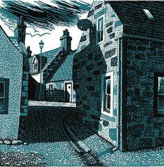 Bryan Angus Scottish Artist, painter, pastels, lino prints
