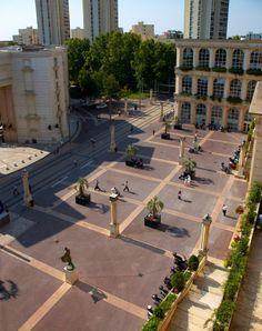 Les Echelles de la Ville, in Antigone District, Montpellier, France - Ricardo Bofill Taller de Arquitectura | Archinect