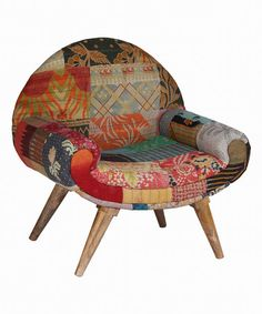 Another great find on #zulily! Red & Fuchsia Bohemian Trail Chair #zulilyfinds