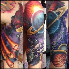 Dazzling Space Tattoos
