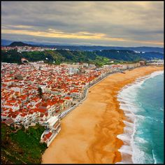 Nazare, Portugal-- I have already been here but someday I will go back. Portugal Vacation, Portugal Travel, Spain Travel, Visit Portugal, Spain And Portugal, Algarve, The Places Youll Go, Places To See, Europe