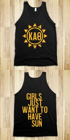 Kappa Alpha Theta Frat Tanks - Sorority Shirts. CLICK HERE to purchase :) Buy 1 or 100!