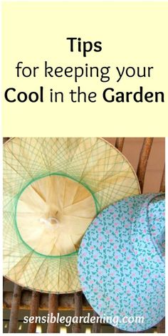 Tips for keeping your cool in the garden with Sensible Gardening