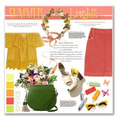 """""""Summer Brights"""" by daha-mk ❤ liked on Polyvore featuring Seed Design, A.P.C., Madewell, Eugenia Kim, Poverty Flats, Dolce&Gabbana, Umbra, Summer, colorful and summertrend"""