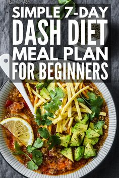 Diet Meal Plan Discover The DASH Diet for Weight Loss: Meal Plan for Beginners Designed to lower your blood pressure this DASH Diet for weight loss includes yummy mix and match recipes and snacks youll love! Dash Diet Meal Plan, Dash Diet Recipes, 7 Day Meal Plan, Ketogenic Diet Meal Plan, Ketogenic Diet For Beginners, Healthy Diet Plans, Ketogenic Recipes, Snack Recipes, Keto Recipes