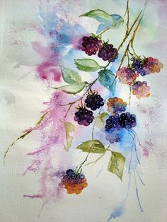 Watercolour Florals: Catching Up : The Squiggle and The Poppies
