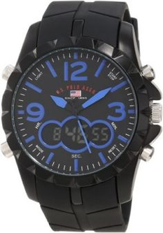 Relógio U.S. Polo Assn. Sport Men's US9239 Black Analog Digital Strap Watch #Relógio #US Polo