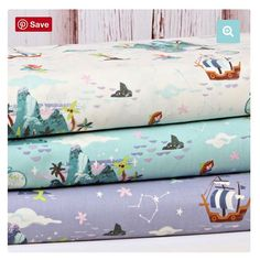 Take a trip to Neverland with these fabulous fabrics from Riley Blake. These woven cottons are soft and adorable. They are perfect for children's apparel, quilting, home decor, etc... let your imagination run wild. We have these prints in stock on the website with coordinates as well. Mix and match them for your own perfect bundle. Click the link in our bio to shop our website! #cotton #fabric #fabriclove #peterpan #neverland #rileyblakefabric #rileyblakedesigns #sewingforkids #quilting…