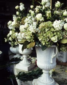 Flowers and urns make for excellent accent pieces in any home