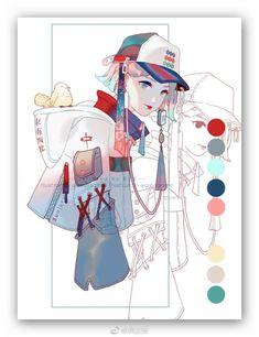 Artist : 黄皮桑 Pretty Art, Cute Art, Manga Art, Anime Art, Art Sketches, Art Drawings, Digital Art Tutorial, Wow Art, Character Design Inspiration