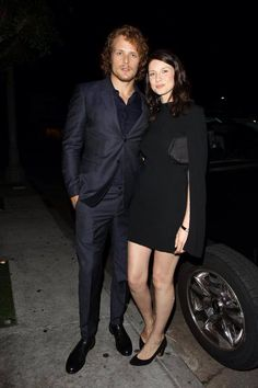 Gorgeous @SamHeughan & @caitrionambalfe at HFPA And InStyle Celebrate The 2015 Golden Globe Award Season! :)