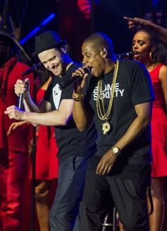 Jay Z and Justin Timberlake perform at 2013 Yahoo Wireless Festival ~ N1ki
