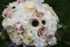 Anemone and Rose Bridal Bouquet