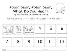 Polar Bear Polar Bear, What Do You Hear? - Cut and paste story sequence