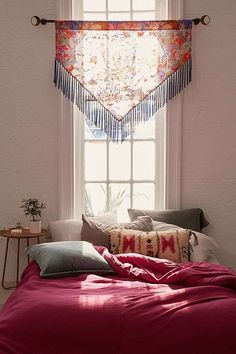 Urban Outfitters Sia Burnout Velvet Window Valance