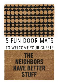 5 Fun Door Mats
