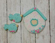 Little bird and birdhouse cookies