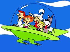 "Meet George Jetson, daughter Judy, Jane his wife...dadadadadada!!!  Son Elroy and his dog, ""Rastrow!"" LOL"