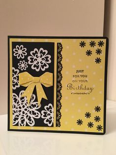 Luxurious Spring inspired birthday card