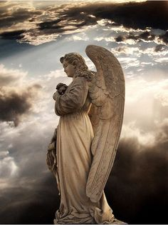 Stone Carved Marble Angel Sculpture Statue - We are manufacturer, exporters and suppliers. You can contact us at www. Cemetery Angels, Cemetery Art, Cemetery Statues, Fantasy Angel, Statue Ange, Entertaining Angels, I Believe In Angels, Ange Demon, Fantasy Kunst