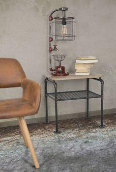 Masa de cafea din metal si MDF Manhattan, L59xl44xh56 cm #homedecor #interiordesign #inspiration #decor #livingroom #industrial Manhattan, Living Modern, Industrial, Desk, Metal, Interior, Furniture, Home Decor, Inspiration