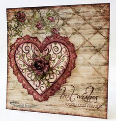 Passage To My Heart Best Wishes - Heartfelt Creations die and stamps