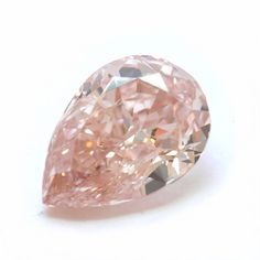 A 2.04-carat pear-shaped orange pink colored diamond with a SI2 clarity worth $142,550. Natural pink diamonds are among the rarest in the world. More than 90 percent of pink diamonds come from one source, the Argyle Mine in Western Australia.