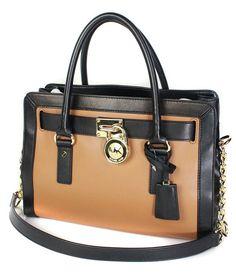 d94ffa2b7ac67 Michael Kors Hamilton Frame Out EW Leather Satchel Acorn Black - Sears