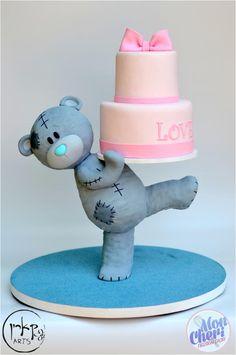 Teddy bear cake - Cake by Mon Cheri Cakes