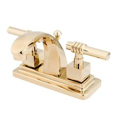 Photo Image Elements of Design Atlanta Polished Brass Handle in Centerset Bathroom Sink Faucet Drain Included Bathroom Ideas Pinterest Polished brass and