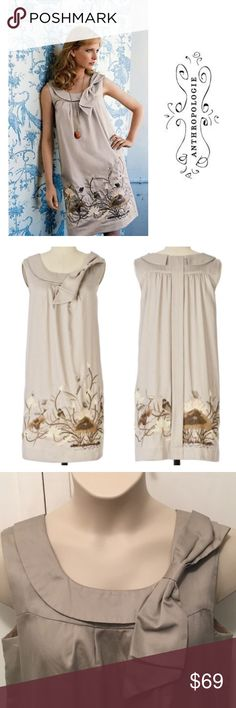 """cc85b89aecff10 Floreat """"Finch and Thistle"""" Embroidered Dress Excellent condition. It's a  little dusty from"""