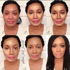 Amazing Contour for dark skin