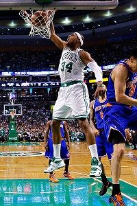 Paul Pierce Dunks in the 4th Game if the Quaterfinals of the 2013 NBA Playoffs
