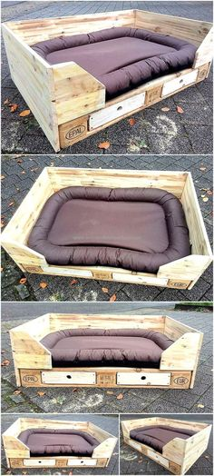 if someone can't afford to buy a pet house from the market; then it is a good idea to create it at home with the wood pallets. Here we are going to show a cute reclaimed wood pallet dog bed.