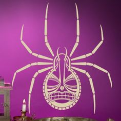 "Style and Apply Spider Wall Decal Size: 49"" H x 46"" W, Color: Orange"