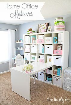 home office craft room makeover, craft rooms, home decor, home office