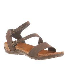 Love this Dark Brown Kourtney Sandal - Women on #zulily! #zulilyfinds