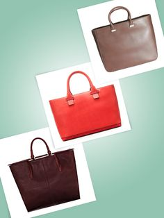 Which one would u choose?  From left to right:Alexander Wang small Lizard Liner in Oxblood, $725alexanderwang.com    Zara Combined shopper, $80zara.com    The Row flat tote bag, $2,600Adresse Philadelphia, 215.985.3161